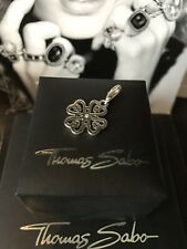 Genuine Thomas Sabo 'CZ Cloverleaf Hearts' Pendant Charm RRP£29 Recently Retire