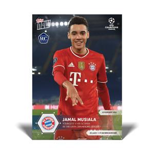 Topps Now UCL 2020-21 - Card 045 - Jamal Musiala - Bayern München