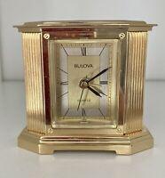 Vintage Bulova Alarm Clock ~ Made In Japan ~ WORKS ~ B7410
