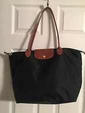 AUTH LONGCHAMP LE PLIAGE BLACK SHOPPING MODELE DEPOSE WOMEN'S HANDBAG PURSE