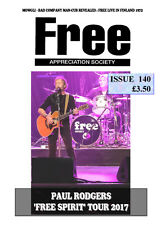 FREE APPRECIATION SOCIETY #140 August 2017 Paul Kossoff Rodgers Kirke Fraser