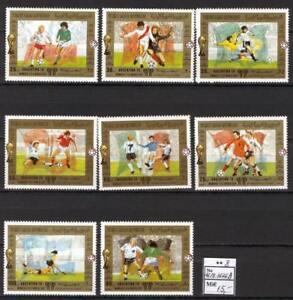 Soccer 1978 C50 MNH Yemen 8v World Cup CV 15 eur