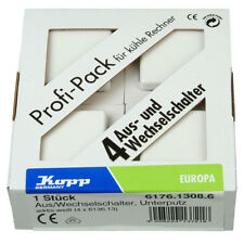 Kopp Profi-Pack 4 x Universalschalter Europa Wechselschalter arktis weiß Neuware