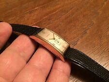 Beautiful Vtg Art Deco Longines 10k Gold Filled Men's Wristwatch Watch Long Case