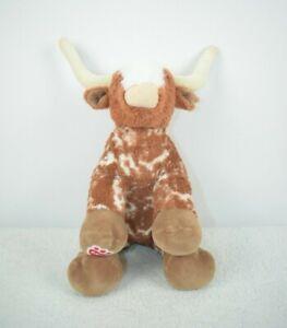 Build A Bear Workshop Longhorn Cow Bull Plush Toy Stuffed Animal Rare No Eyes