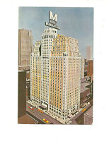 HOTEL MANHATTAN 44TH TO 45TH STREETS AT 8TH AVE. NEW YORK CITY CHROME POSTCARD