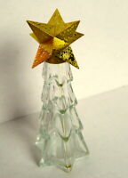 Avon Christmas Tree Clear Glass Bottle Vintage