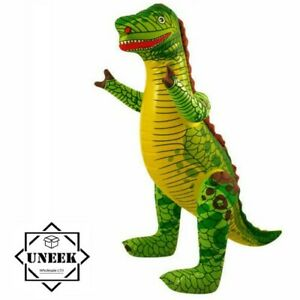 2x LARGE INFLATABLE DINOSAUR Blow Up T-Rex Toy Dino Kids Party Decor  90cm UK
