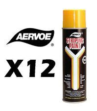 Aervoe Aerosol Solvent Based Striping Paint--Yellow--Case of 12--18 oz net wt.