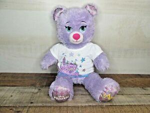 Disney Frozen Build a Bear plush stuffed animal Anna purple