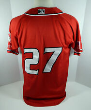 2018 Albuquerque Isotopes #27 Game Used Red Jersey ABQ00013
