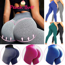 Damen Yoga Leggings Push Up Sport Hose Fitness Gym Laufhosen Stretch Leggins *