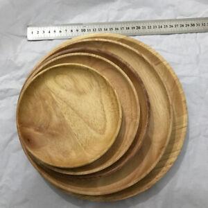 Holzteller Rund Rustikal Ø 15 18 20 24 27 Cm   Aus Eichenholz Besteck Set
