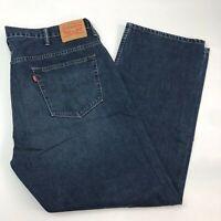 Levi's 569 Denim Jeans Men 40X32 Blue Loose Straight Fit 100% Cotton Medium Wash