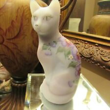 Beautiful 5 Inch Tall Purple/ Blue Burmese Cat Signed And Numbered 1648/4750