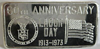 1973 LABOR DAY ART BAR GREAT LAKES MINT GLM .999 FINE SILVER 60 YEARS 1 TROY OZ