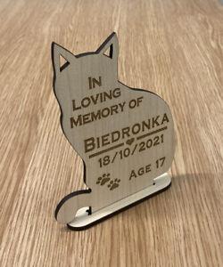 Personalised Engraved Cat Pet Memorial Plaque , Grave Mark Loving Memory Rabbit