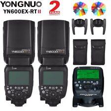 2*Yongnuo YN600EX-RT II Flash Speedlite +YN-E3-RT II Transmitter Kit for Canon