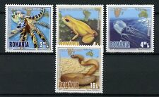 Romania 2017 MNH Most Poisonous Creatures Frogs Snakes Jellyfish 4v Set Stamps