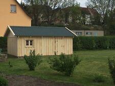Holzgarage mit Satteldach Fertiggarage Geräteschuppen Gartenhaus 5m x 6m  Holz