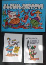 JACOVITTI  lotto!!!! + ALBUM da DISEGNO ( NUOVO!!)+ 2 cartoline anni 70 ORIGINA