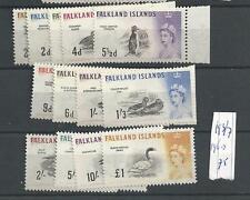 Falkland Islands 1960 MNH SG 195-207 two lowest values missing, postfris (vlp1)