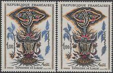 "FRANCE TIMBRE N° 1493 "" TAPISSERIE LURCAT VARIETE COULEUR "" NEUFS xx TTB K122b"