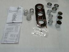 Standard ideale doccia Ovale Trim la piastra frontale e Maniglie Cromo a6131aa