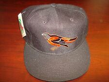 BALTIMORE ORIOLES   NEW ERA DIAMOND WOOL  FITTED SZ 7 3/4 1990S VINTAGE HAT CAP