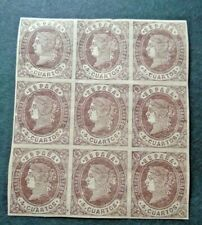 CLASSIC QUEEN 4 CUARTOS BLOCK WITH 9 STAMPS 3 VF MNH SPAIN ESPAGNE B36.48 0.99$