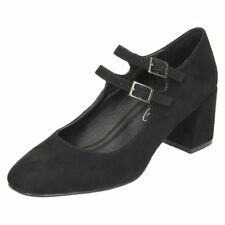 Mary Janes Block Synthetic Upper Formal Heels for Women