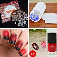 4Pcs/set BORN PRETTY Nail Art Stamping Plates Stamping Polish Stamper Scraper