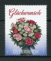 Austria 2018 MNH Congratulations Bouquet Flowers 1v Set Stamps