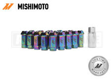 MISHIMOTO NEO CHROME ALUMINIUM LOCKING WHEEL LUG NUTS SET - M12x1.5