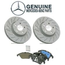 For Mercedes W212 E350 E400 Front Disc Brake Rotors & Pads Kit Genuine