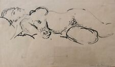 JACOB LOUTCHANSKY (1876-1978), Ink on Paper, Nude, Signed