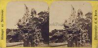 Vienna Grotte Da Nettuno Autriche C.G.Parigi Vintage Stereo Albumina Ca 1870