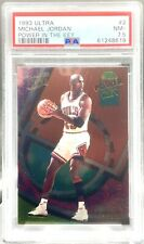 PSA 7.5 1993 Ultra #2 Michael Jordan Power in the KEY INSERT Chicago Bulls HOF