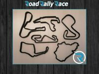 Race Track Circuit Wall Art,Track Art sculpture,Car,Motorbike,F1,GP,Moto GP