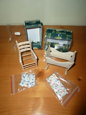 maison de poupées meubles miniature échelle 1.12 Blanc fauteuil à bascule
