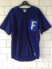 BRIGHT BOLD URBAN VINTAGE RETRO BASEBALL JERSEY FESTIVAL T SHIRT UK LARGE #37