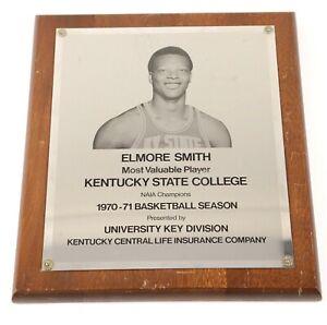 1970-71 Elmore Smith Kentucky State College Basketball MVP Award Plaque