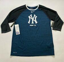 New York Yankees oficial para Hombre Nike Dri-fit Manga Larga Camisetas (grande)