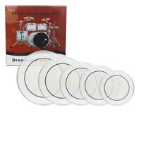"New Professional 12"" 13"" 14"" 16"" 22"" PET Drum Heads Drum Skins Set Transparent"