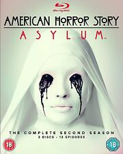 * Blu-Ray TV Series NEW SEALED * AMERICAN HORROR STORY Season 2 * Blu Ray