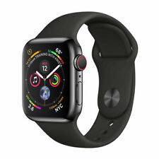 Apple Watch Series 4 44 mm Space Gray Aluminum Black Sport Band