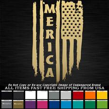 'Merica USA Tattered Flag Right down Stars & Stripes sticker decal