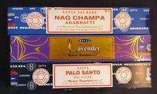 encens satya saibaba Inde : 3 variétés nag champa, lavande et Palo Santo