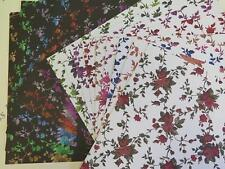 """Large Rose Backing Paper 1-Sided 12""""x12"""" Scrapbooking 120gsm x 85 Sheets AM654"""