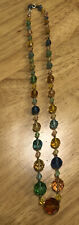 Glass Faceted Bead Necklace Vintage Art Deco Multi-coloured